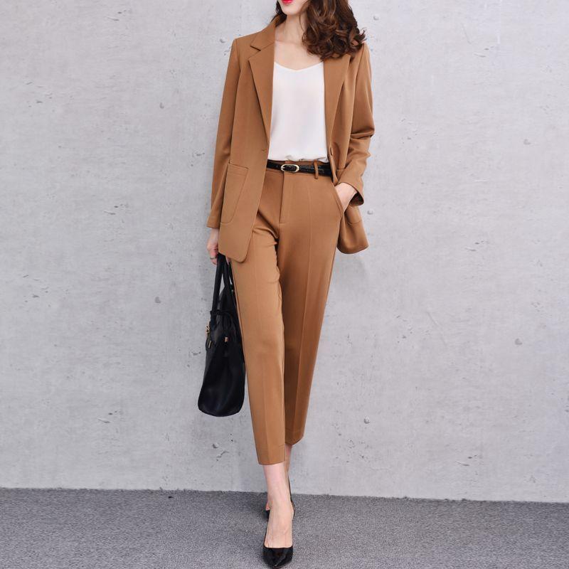 Camel Pant Suit
