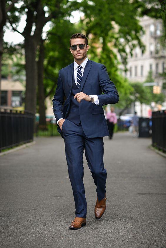 26f7f0e60 Pin de La Chiguita Corita en Hombre actual en 2019   Suit fashion, Mens  fashion y Blue suit men