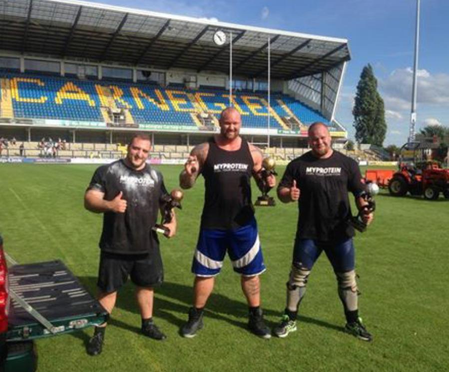 Europes Strongest Man, Headingley, Leeds 9 Aug 2014 - 1st - Thor, 2nd - Arsjo and 3rd - Hicks