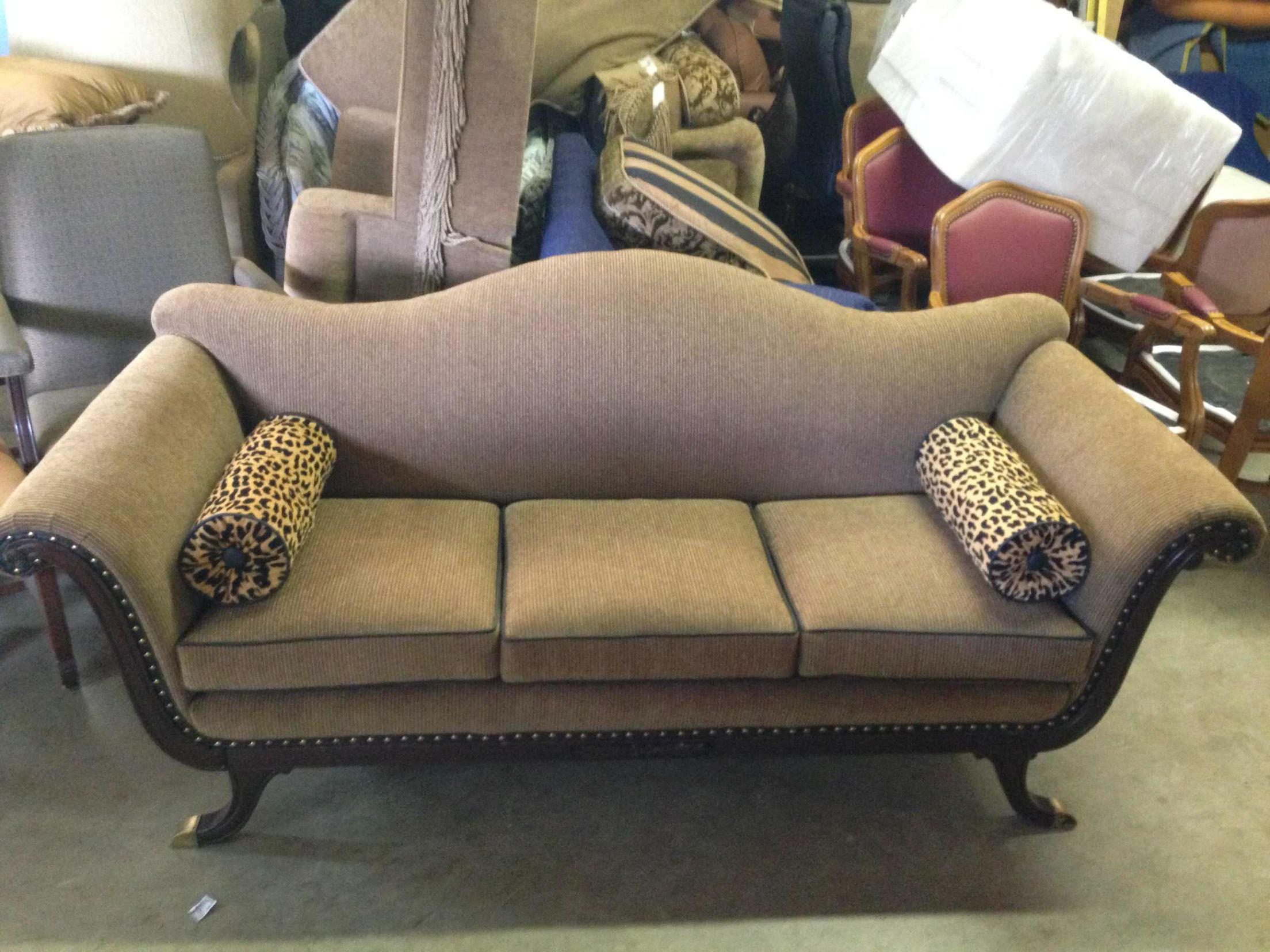 Duncan Phyfe Sofa pletely restored with new Kravet upholstery