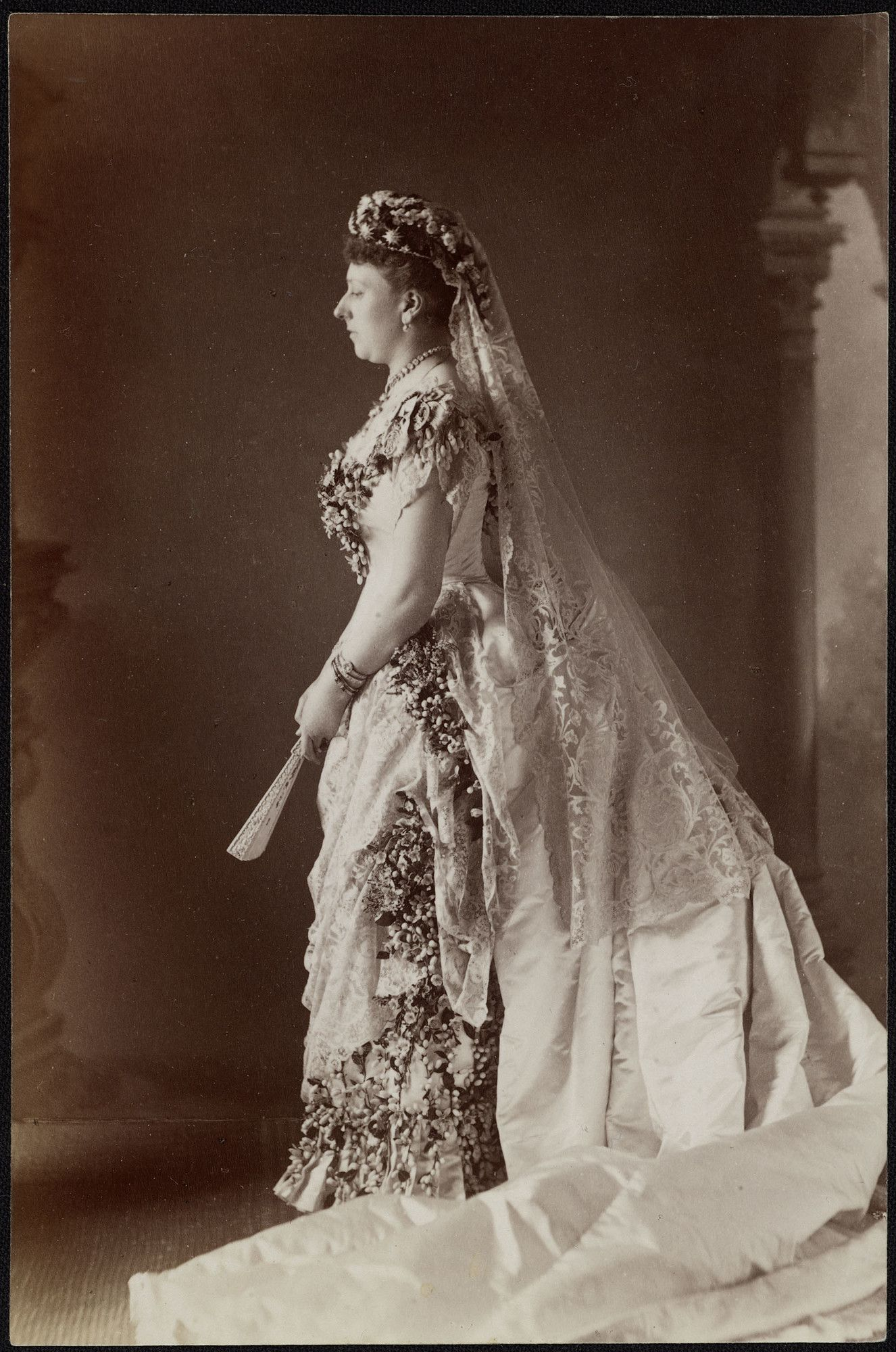 Princess Beatrice (18571944) in her wedding dress 23 Jul