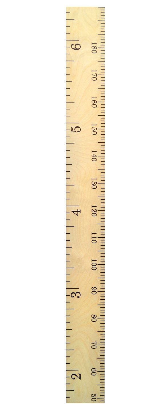 Schoolhouse Wooden Ruler Growth Chart / Kids Wood Height ...