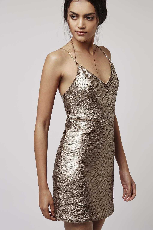 PETITE Brushed Sequin Dress