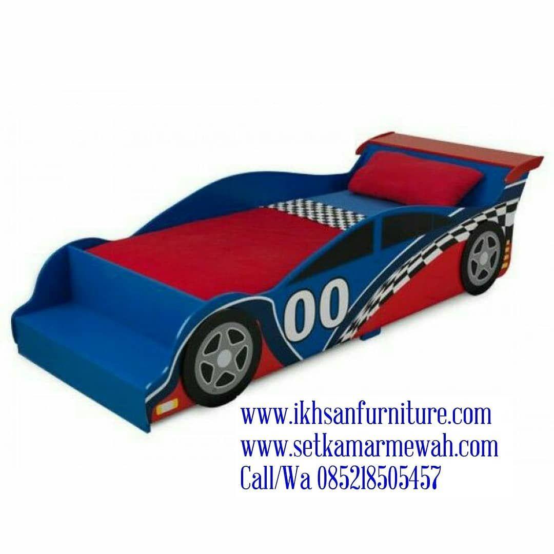 Tempat Tidur Anak Berkarakter Mobil Balap Www Ikhsanfurniture Com Www Setkamarmewah Com Call Wa Tempat Tidu Toddler Car Bed Race Car Toddler Bed Toddler Bed