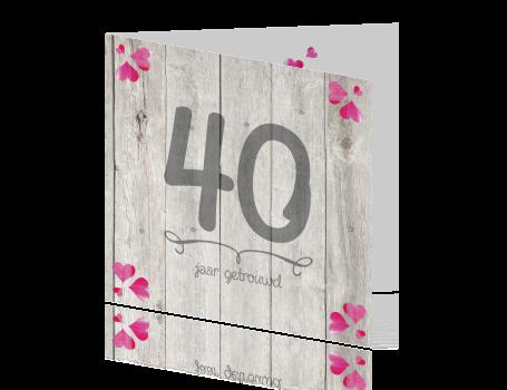 40 Jaar Getrouwd Robijnen Huwelijk