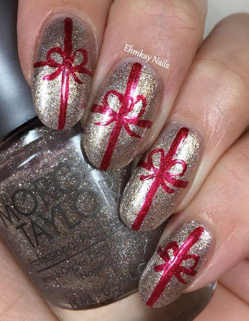 Morgan Taylor Wrapped in Glamour Gift Wrap Nail Art | Morgan taylor