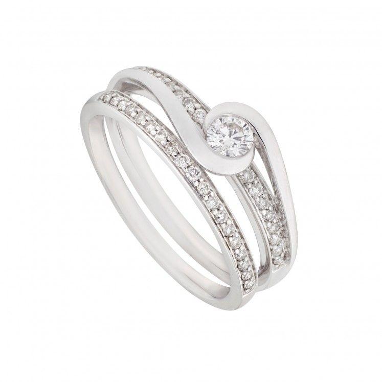 9ct White Gold 0 35 Carat Diamond Bridal Set Diamond Bridal Sets Bridal Ring Sets Dress Rings