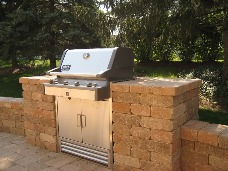 Chicago brick grill enclosures backyard pinterest for Outdoor cooking station ideas
