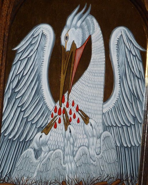 Pelican In Her Piety Illumination And Book Binding Inspiration