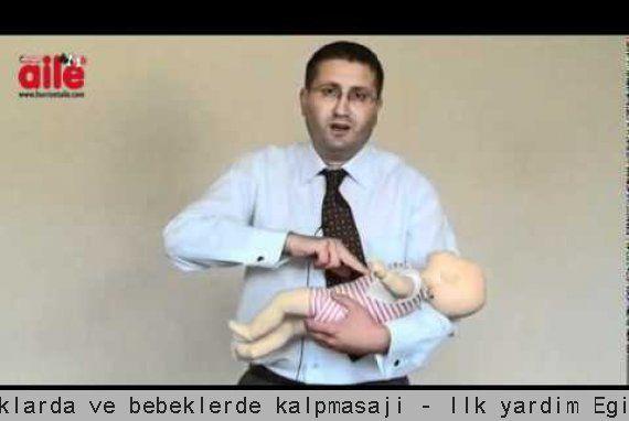Sağlık Videoları - Çocuklarda ve bebeklerde kalpmasajı - İlk yardım Eğitmeni Dr. Barış Mutluer