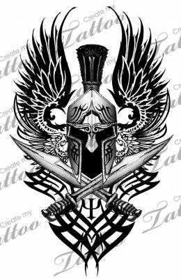 Badass Guerrier Tatouage Tatouage Spartiate Et Tatouage Armure