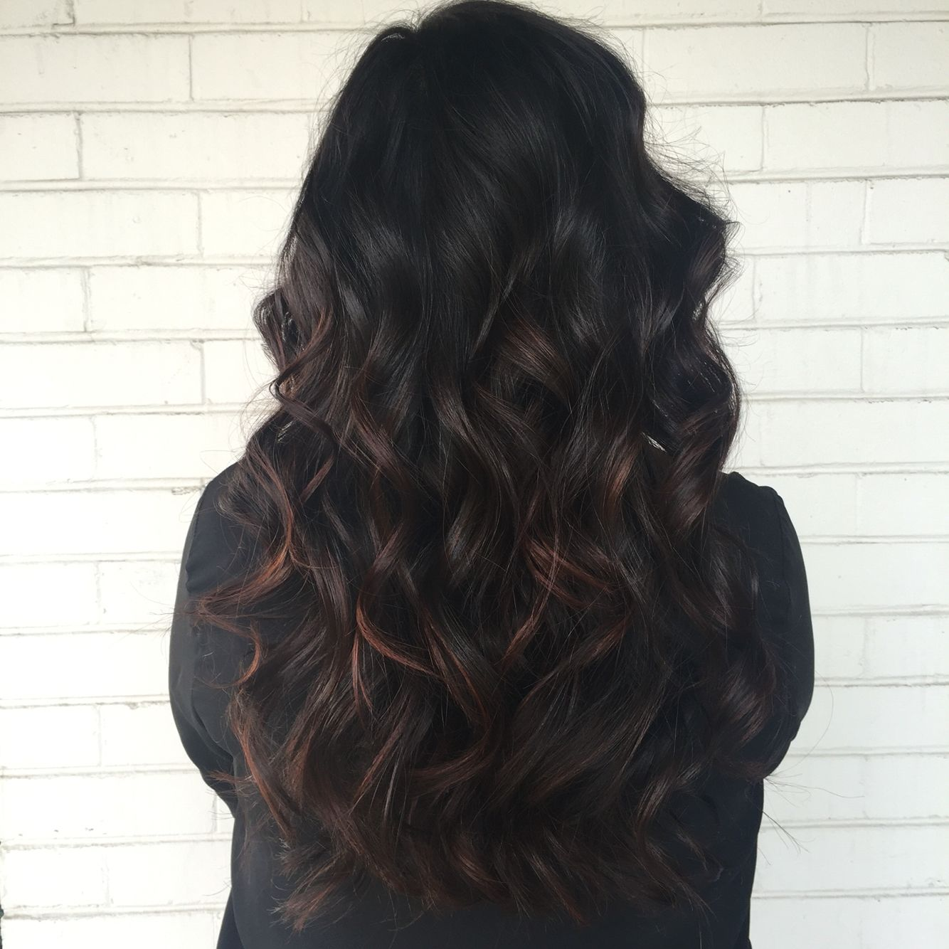 Subtle Balayage over naturally dark hair ❣ in 2019
