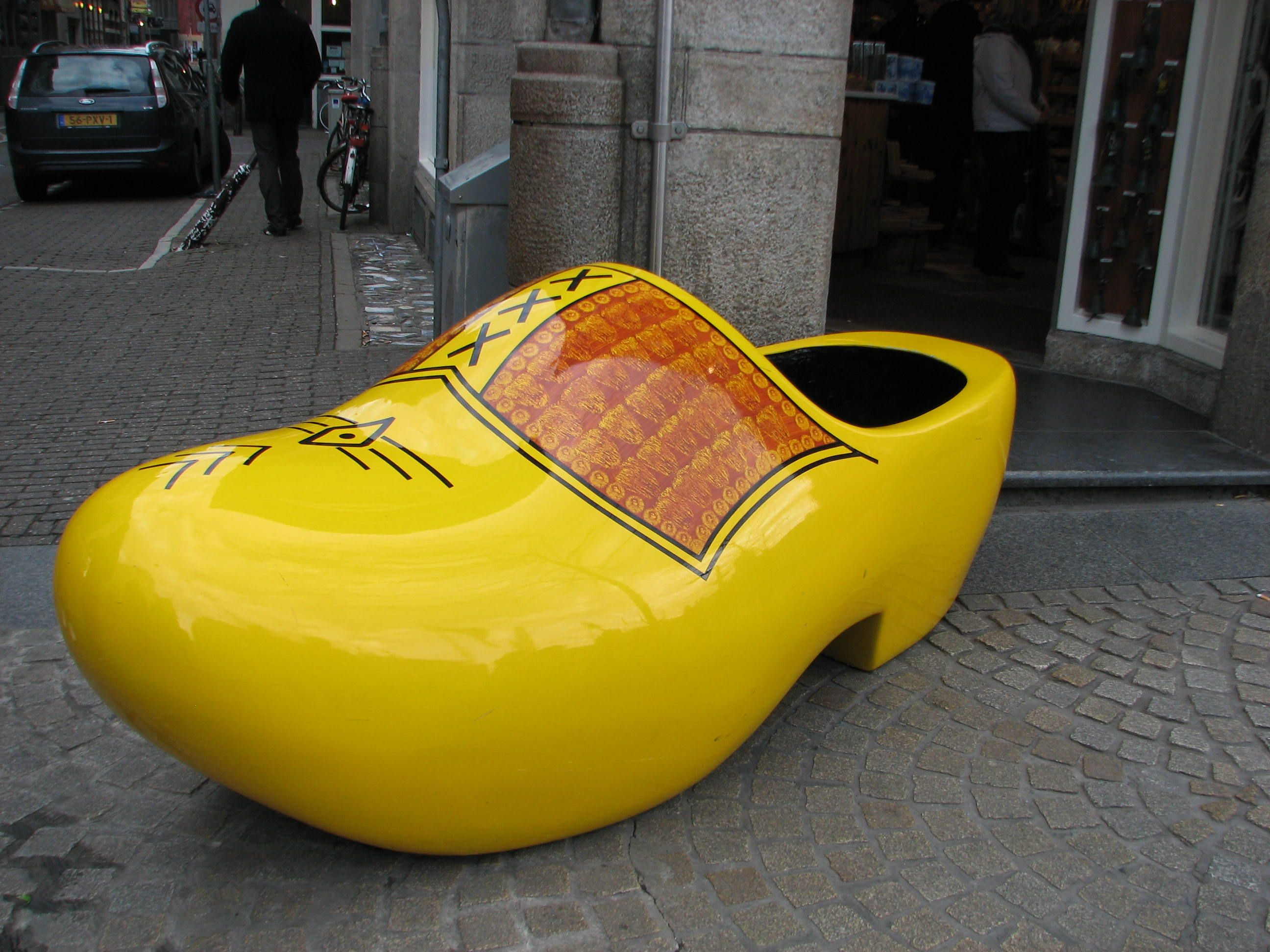 Really Large Wooden Shoes To Fillin Amsterdam Woodenshoes