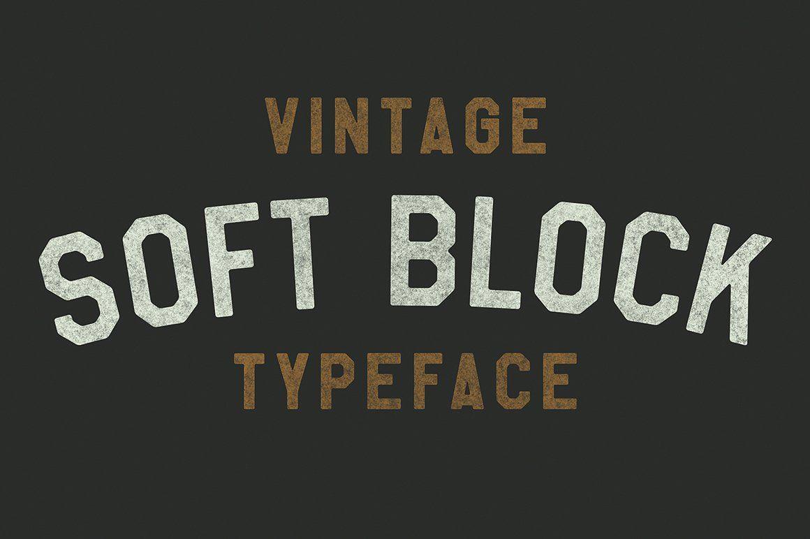 Soft Block Pro Soft Blocks Block Fonts Typeface