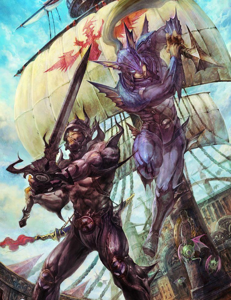 Final Fantasy Iv Cecil Kain Illustration Final Fantasy Iv