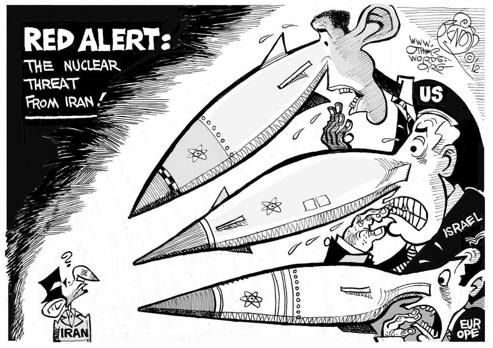 Image result for US nuclear weapons CARTOON