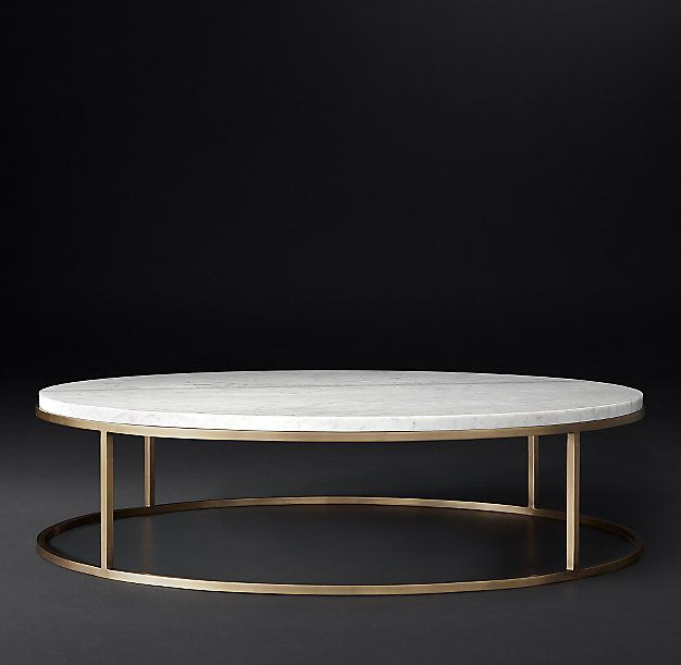 Funky Coffee Tables: RH Modern's Nicholas Marble Round Coffee Table:Pairing