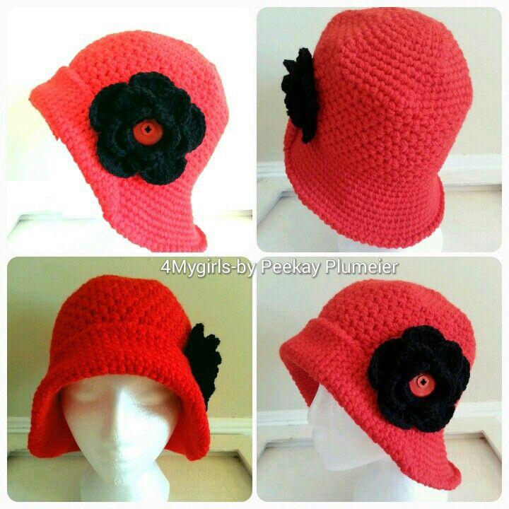 Custom order : crochet flapper hat