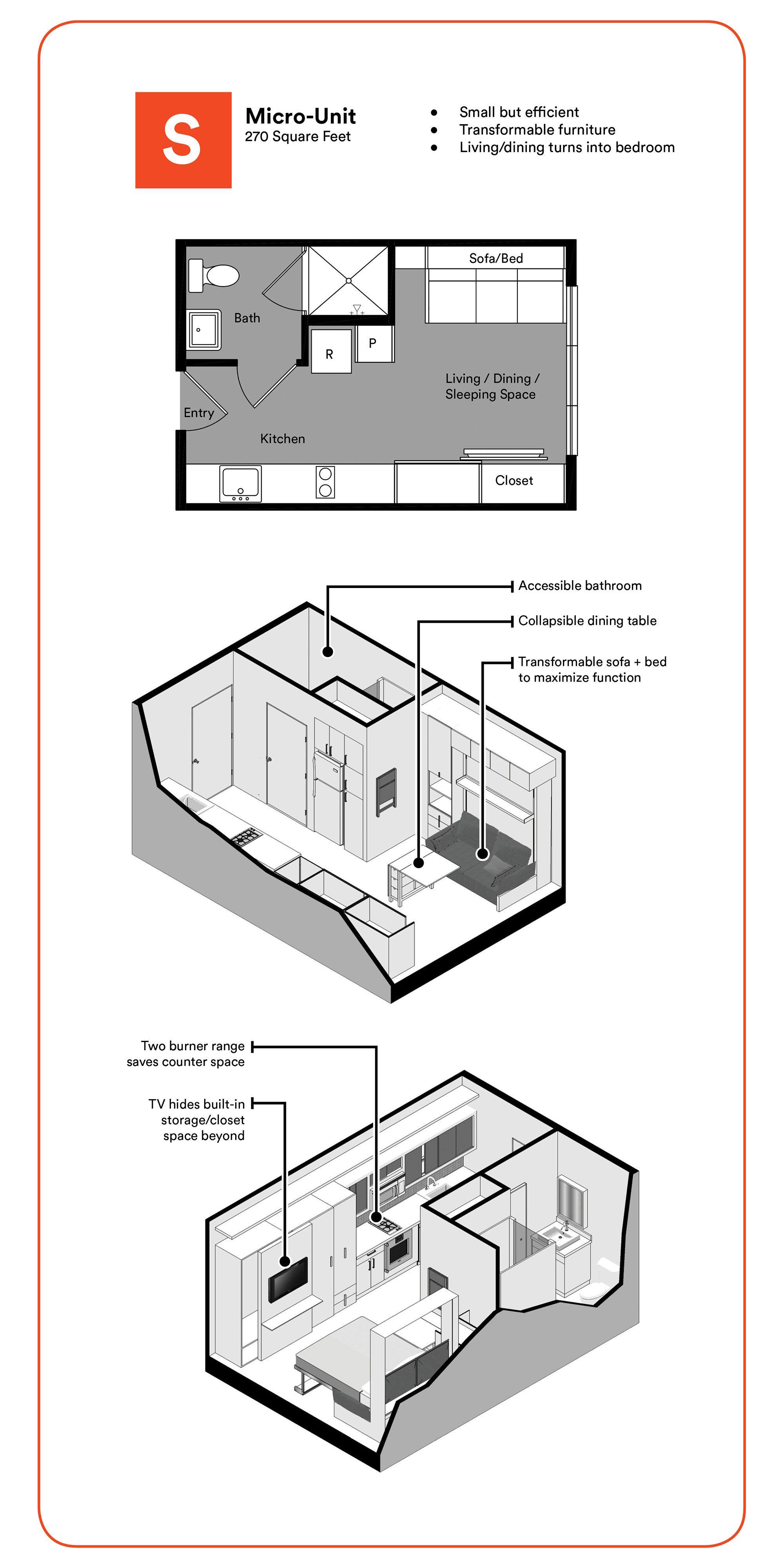 Micro Unit Ktgy Architecture Planning Apartment Floor Plans