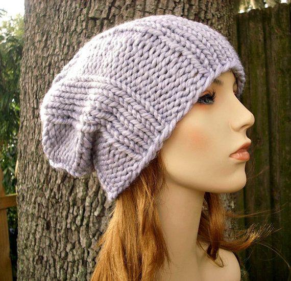 Knit Hat Mens Hat Womens Hat - Watchman Cap Beanie in Pewter Heather ...