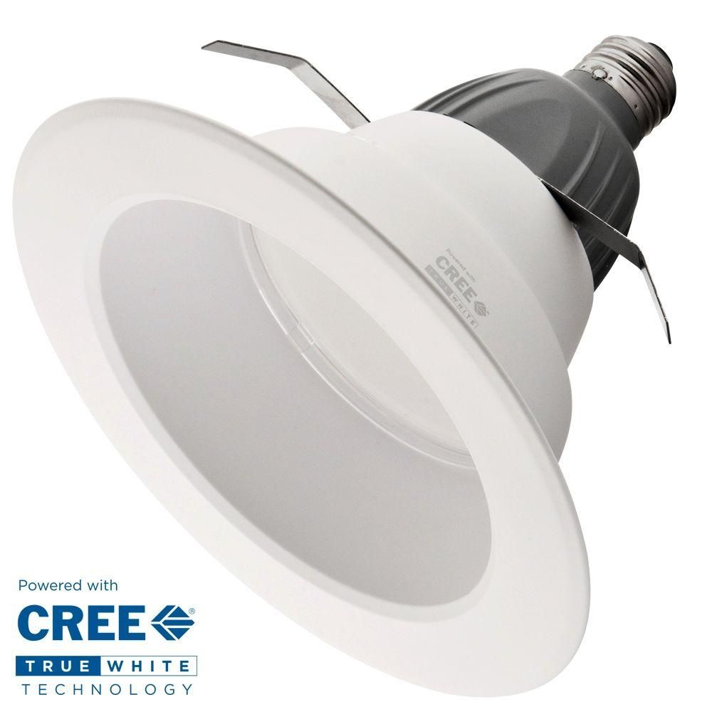 Cree TrueWhite 6 in. 65W Equivalent Soft White (2700K) BR30 Dimmable LED Recessed Down Light Bulb-H1CR6TW62527E04 at The Home Depot  sc 1 st  Pinterest & Cree TrueWhite 6 in. 65W Equivalent Soft White (2700K) BR30 Dimmable ...