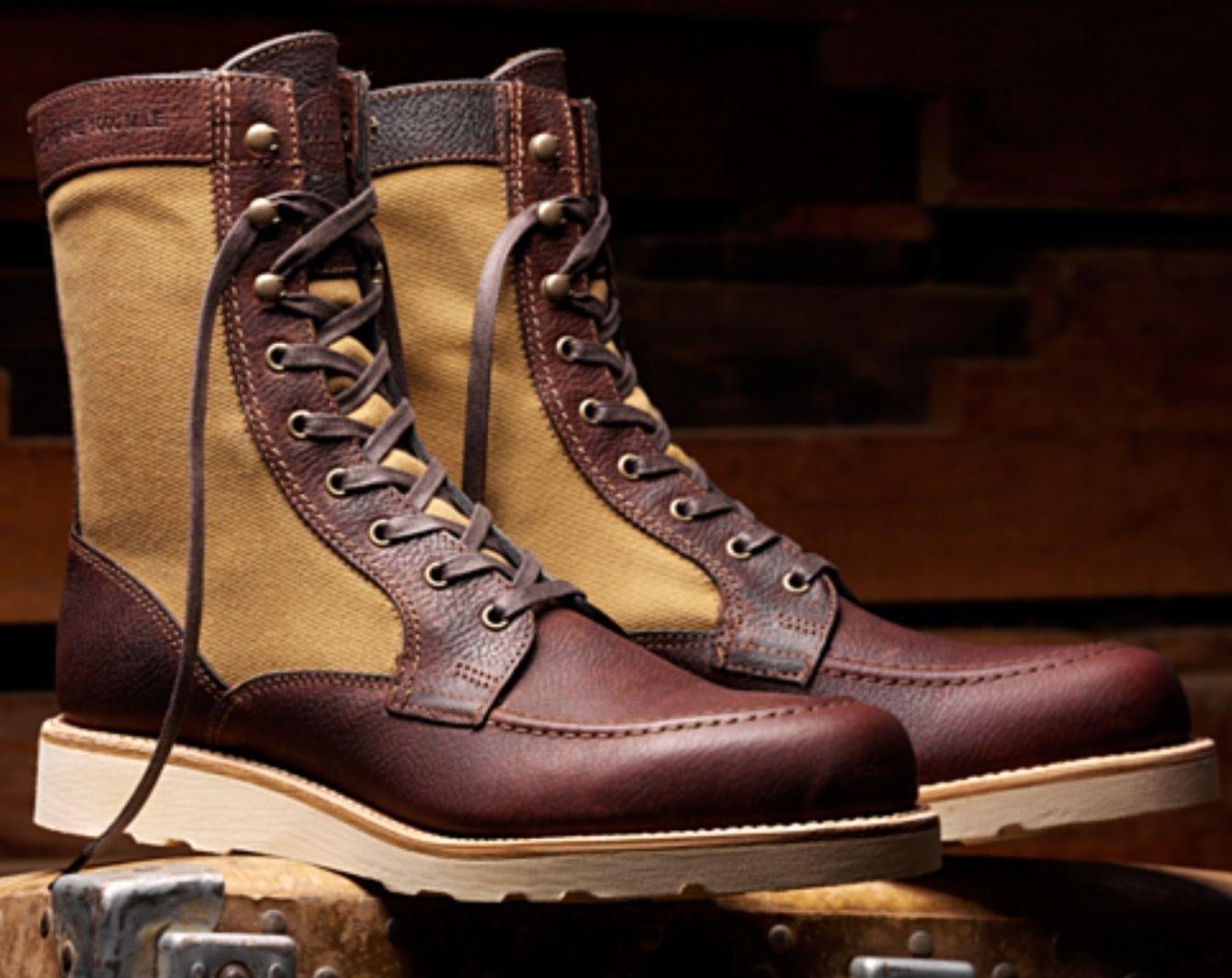 Filson x Wolverine Men 1000 Mile Rowan Leather Tin Cloth Boots