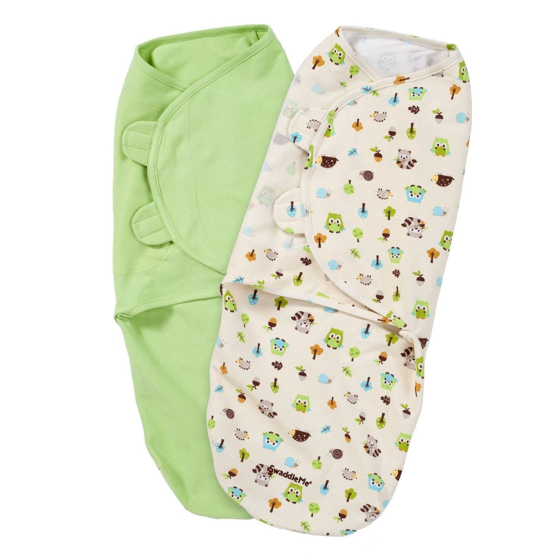 SM New Baby Kids Infant Sleep Sack Swaddle 100/% Cotton Soft Secure Fasten 3-PK