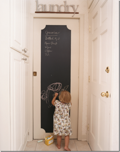 Chalkboard painted door... or paint a door sized mirror with chalk paint for & Chalkboard painted door... or paint a door sized mirror with chalk ...
