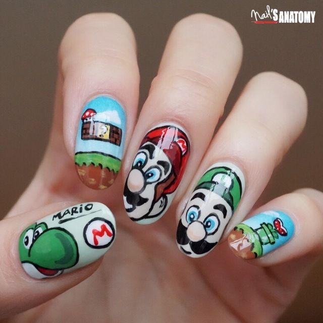 It\'s-a Me, Mario!\' #mariobros. Mario bros - Nailstyle | Nailstyle ...