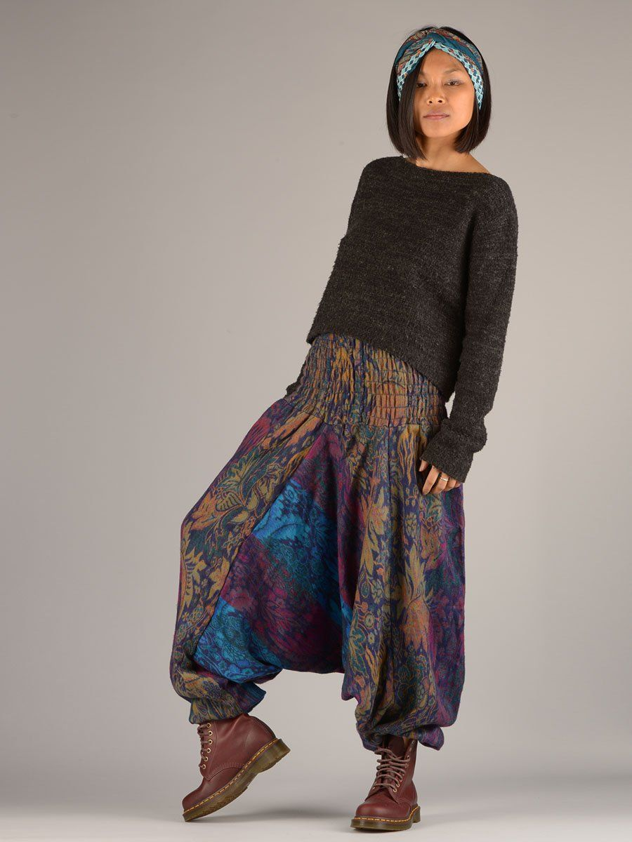 36fbfd79dc Indian Flowers Winter Harem Pants - Low Crotch @Forgottentribes ...