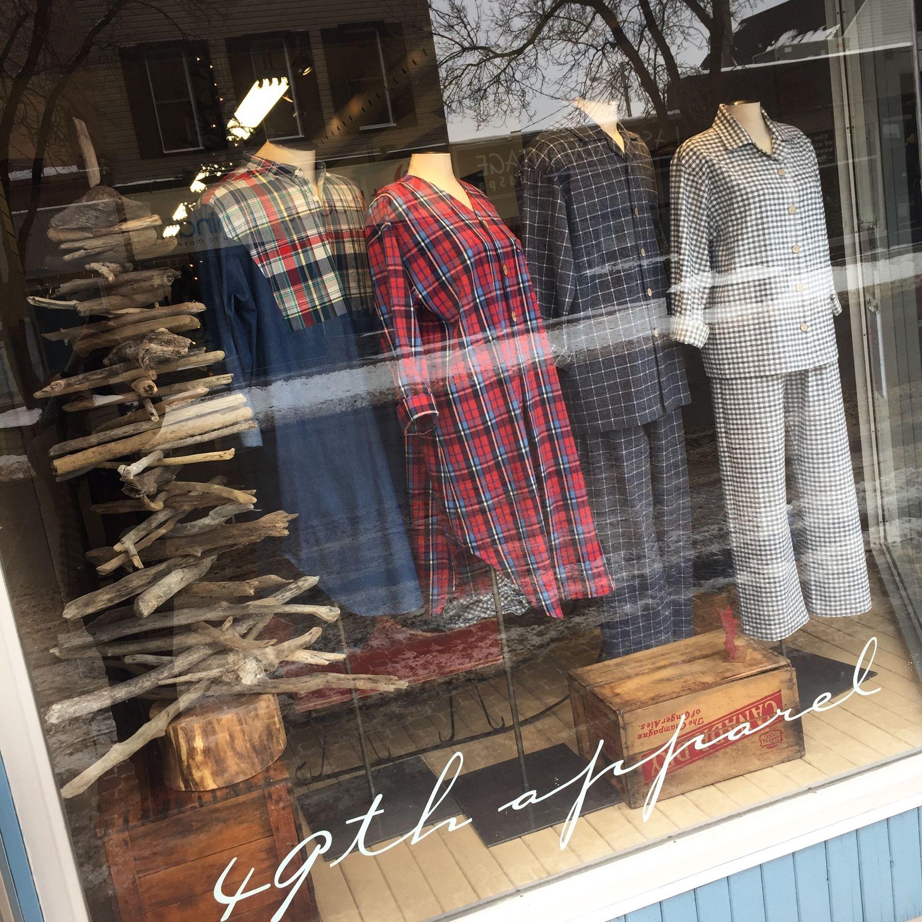 49th Apparel Christmas Sleepwear Window Display
