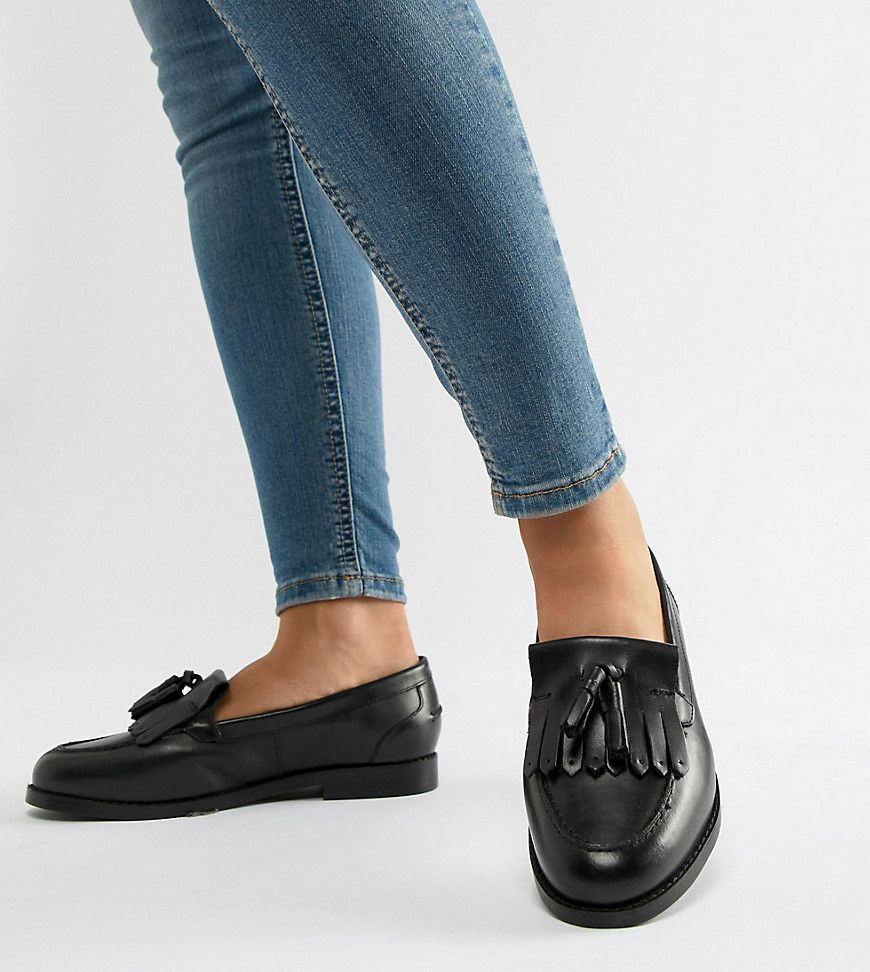 ASOS DESIGN Maxwell Wide Fit leather
