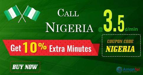"""Amantel #NigeriaCallingOffer - Get 10% extra minutes to #CallNigeria from #USA and #Canada. Just use this coupon code - """"NIGERIA"""" and enjoy your #international #Nigeria #calling. Hurry up, offer valid for limited periods - http://amantel.com/offers/call-nigeria-2916.html"""