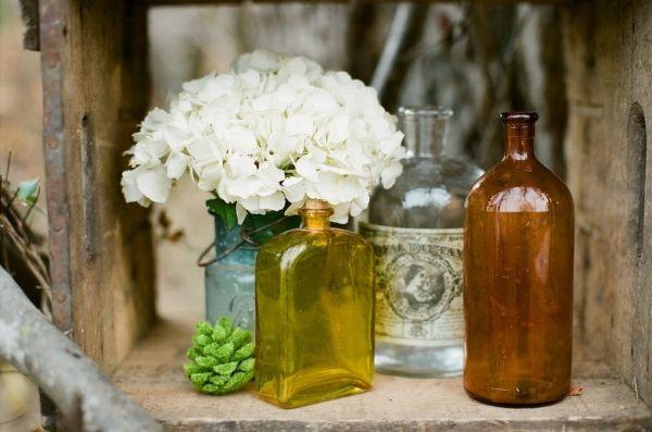 jars. flowers.