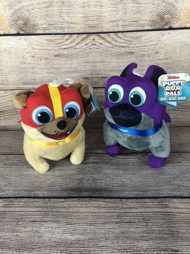 Disney Puppy Dog Pals Bingo Rolly Plush Nwt Captain Dog The