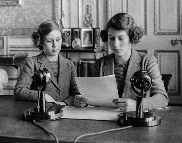 Princess Elizabeth And Princess Margaret Speak On The
