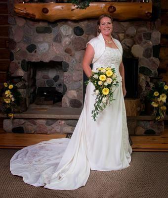 satin aline plus size wedding dress with corset  david's