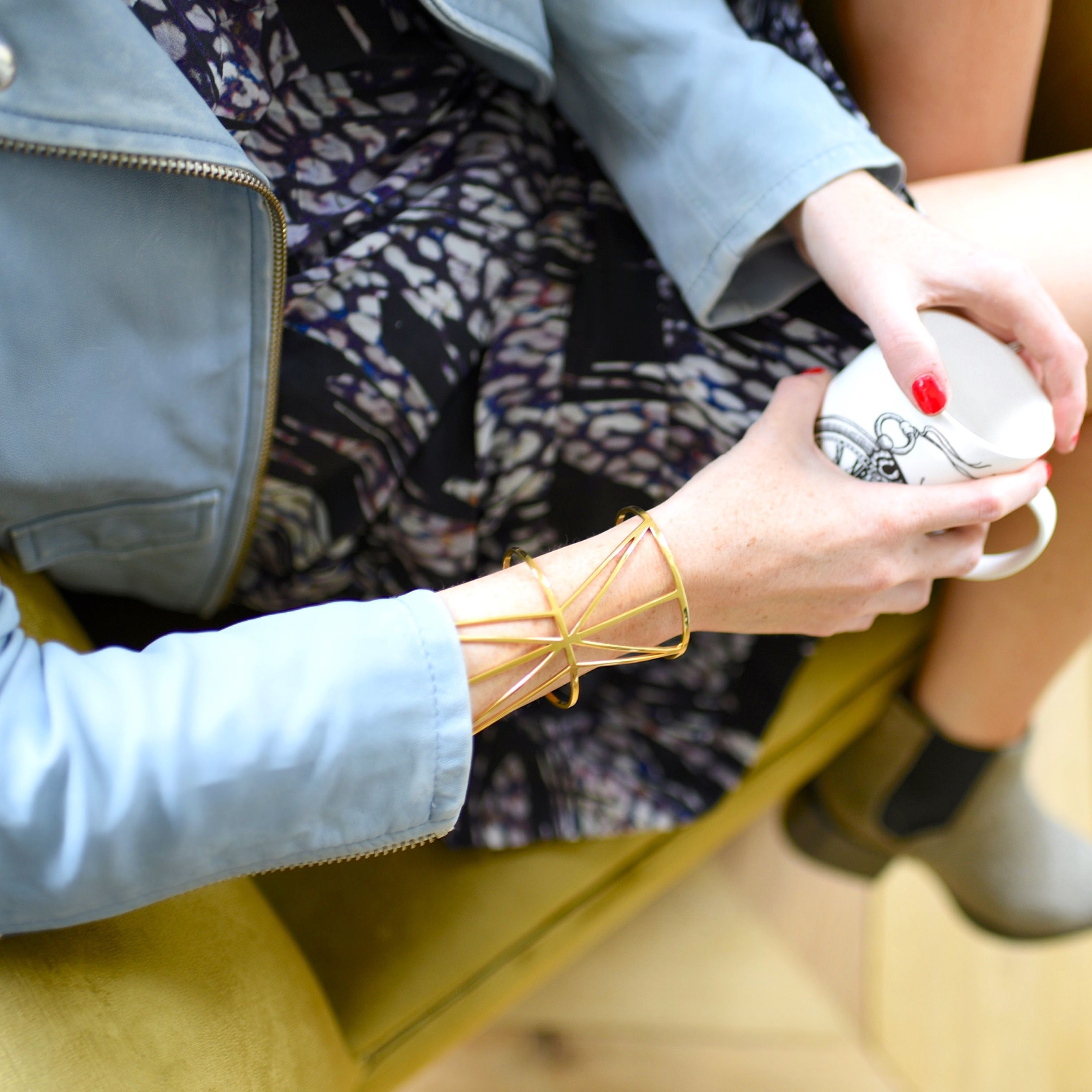 Lorna Luxe - wearing the statement RADIAL cuff