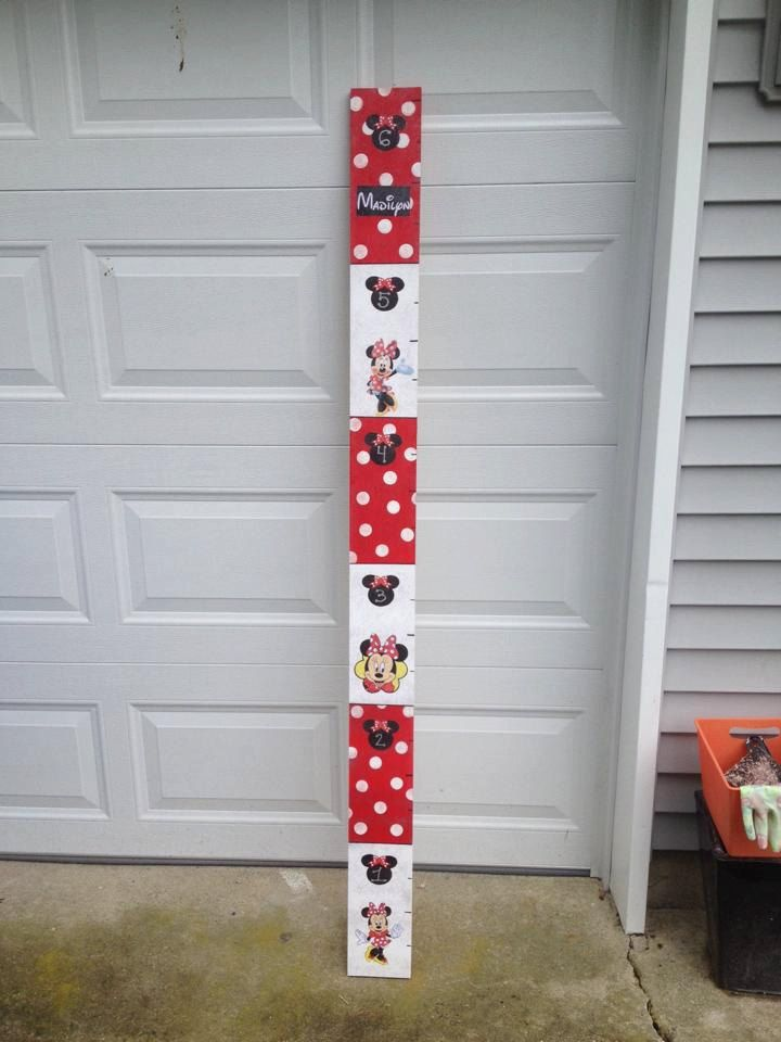 Minnie Mouse Growth Chart The Starfish Wish On Etsy Pinterest