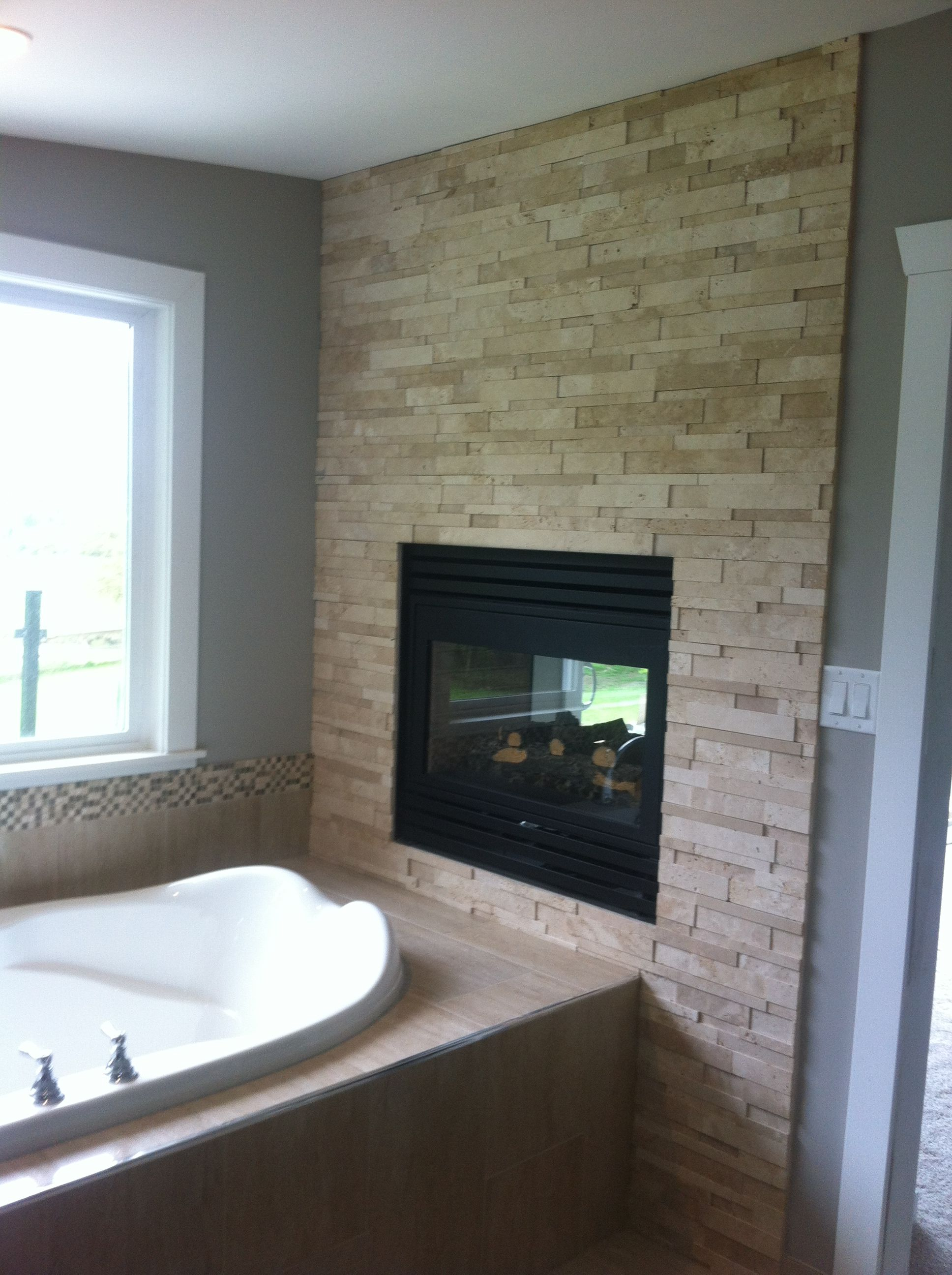 Bungalow Fireplace Mantel Travertine Fireplace Basement Remodel Fireplace