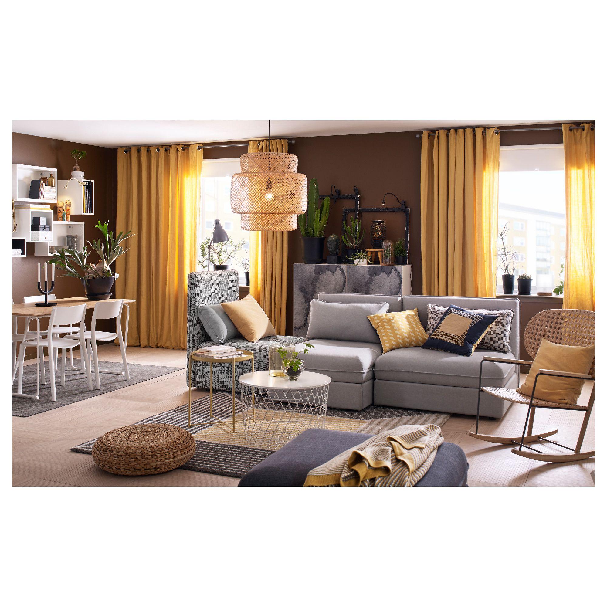 IKEA   ORMHASSEL Throw Yellow, Gray Living Room White, Ikea Living Room,  Living