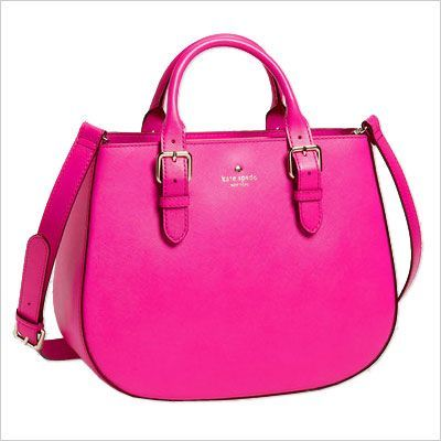 Bright Accessories For Every Budget Pink Leather Hot And Tote Bag