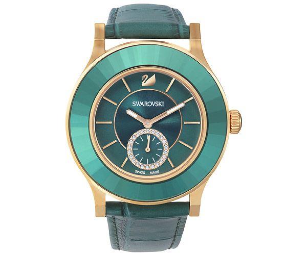 Tone Classica Swarovski Rose Watches Octea Emerald Gold Watch PkZiXuTO