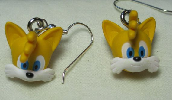 Sonic The Hedgehog Earrings Tails By Jirges On Etsy
