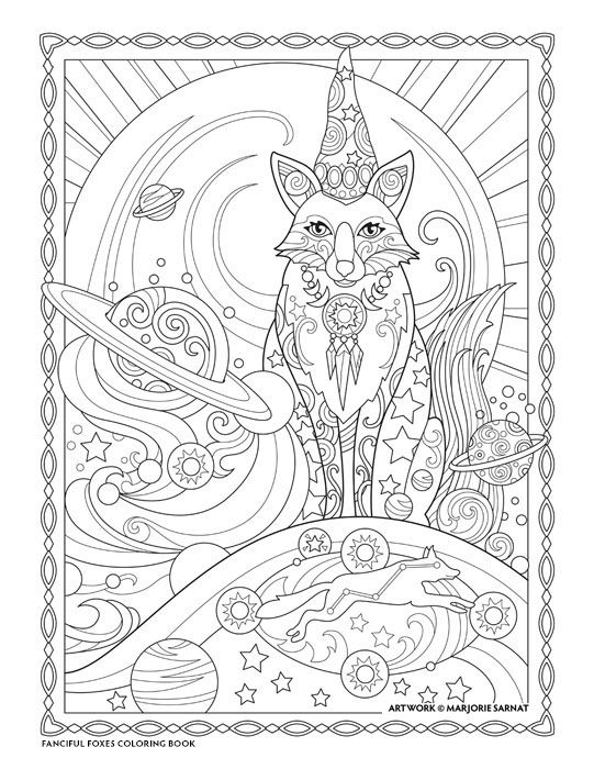 Creative Haven Fanciful Foxes Coloring Book By Marjorie Sarnat Astro Fox