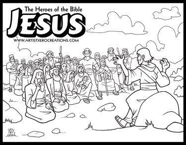 The Heroes Of The Bible Coloring Pages Jesus Sermon On The Mount