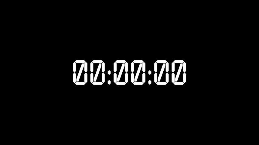 White Digital Timer Starting 0 Stock Footage Video (100% Royalty-free) 1034821988 | Shutterstock