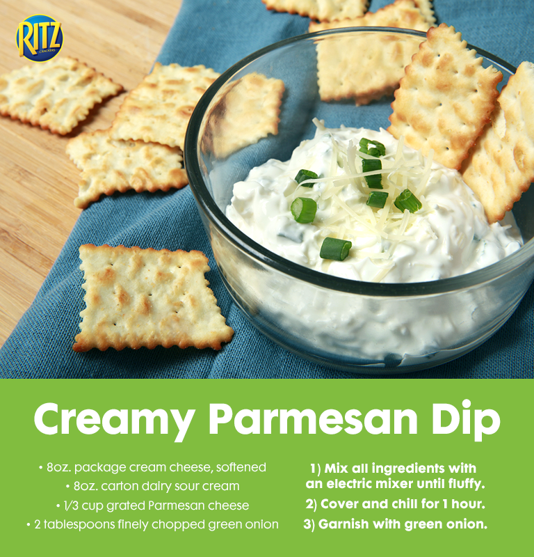 A Good Party Always Needs A Good Dip Combine Cream Cheese Sour Cream Grated Parmesan And Green Onion For This Creamy Yummy Dip Recipes Food Cooking Recipes