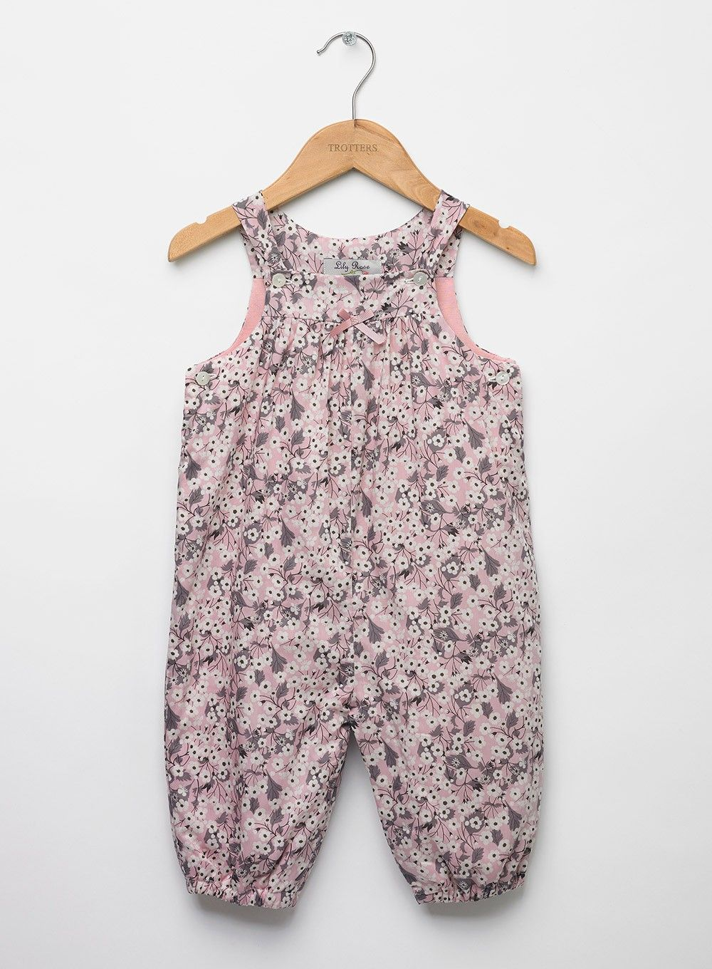 99db78557 These 100% cotton dungarees come in Liberty's Japanese-style cherry blossom  Mitsi print;