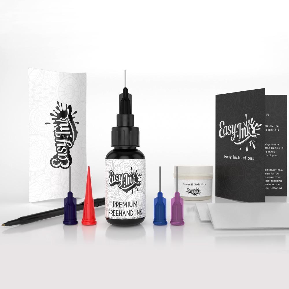 Henna Tattoo Pen Kit: Semi-Permanent Tattoo Freehand Ink - Full Kit